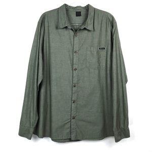 Men's Oakley Green Button Up Long Sleeve Shirt XXL